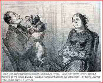 Gravure daumier chien