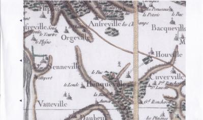 Heuqueville carte cassini 1