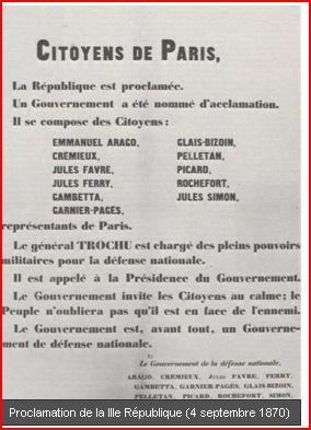 Proclamation de la 3e republique