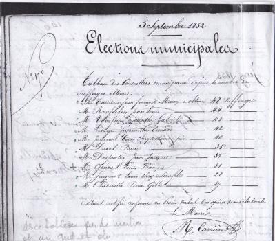 Tableau election 5 05 1852